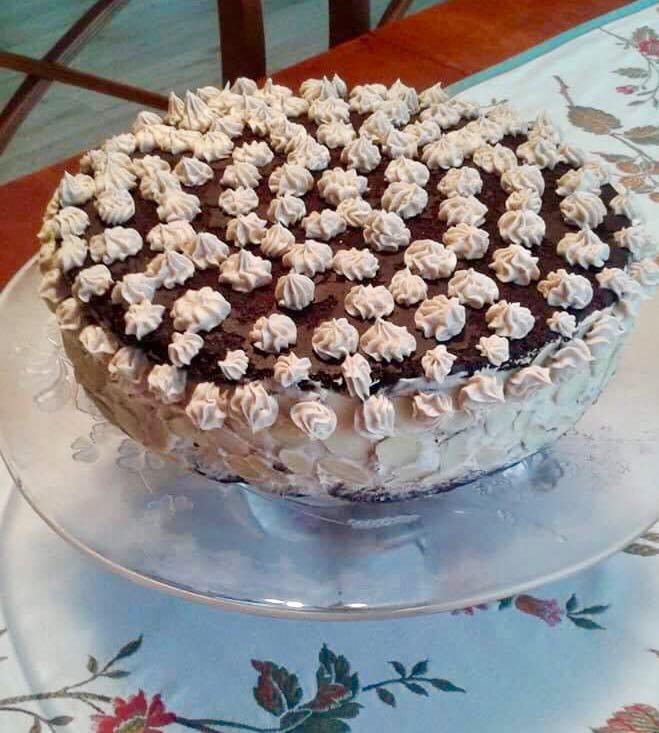 Lisztmentes gesztenyés torta