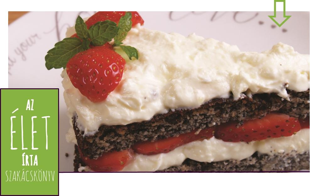 Mákos-habos torta