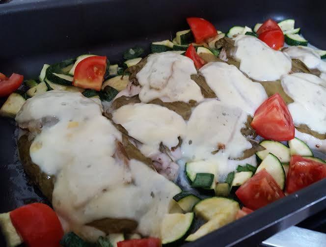 Mozzarellás, spenótos csirke